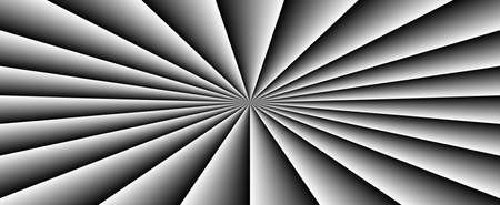 Abstract geometric black background made of light tubes. Black and white colors.