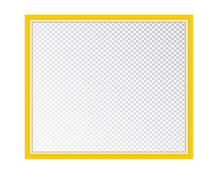 Empty photo frame isolated on a transparent background. Vector illustration for your design. 向量圖像