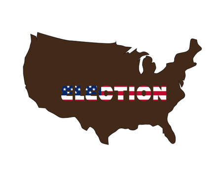 USA election 2020 in vector art