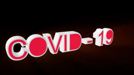 3d illustration text on white background. 3d render Covid-19 or Coronavirus concept Stok Fotoğraf