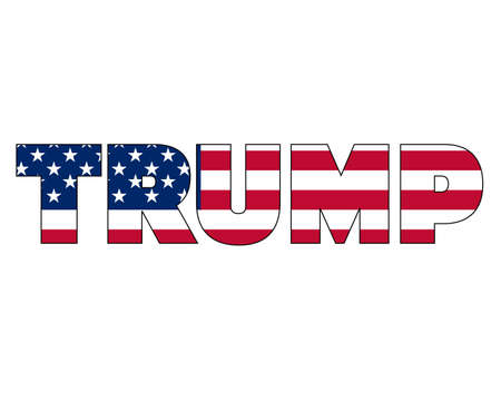 Vote USA 2020 election day. The flag of the United States of America in the name of the future president.