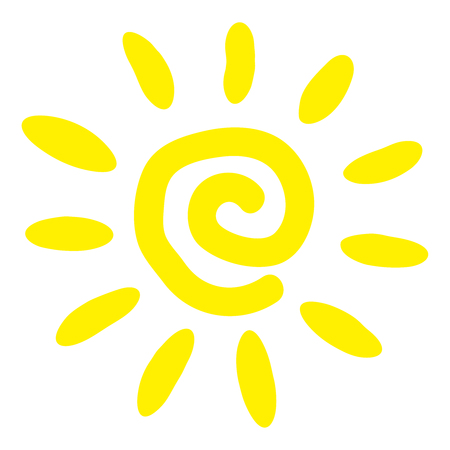 Sun flat icon. Summer pictogram. Sunlight symbol. Trendy vector of summer symbol for website design, web button, mobile app. Vector illustration, EPS10. Stock Illustratie