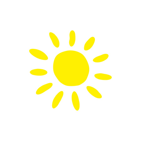 Sun flat icon. Summer pictogram. Vector summer symbol for website design, web button, mobile app. Sunlight symbol. Vector illustration, EPS10.