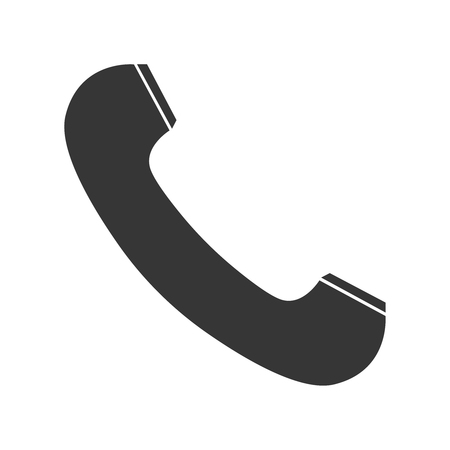Phone icon in trendy flat style isolated on white background. Telephone symbol for your design, logo, UI. Vector illustration, EPS10.