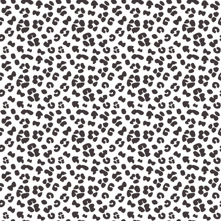 Seamless faux leopard skin pattern with small black spots on white background. Vector - EPS. Stock Illustratie
