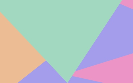 Triangular background with large green, yellow (beige) and violet triangles Stock Illustratie