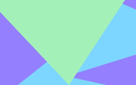 Triangular background with large green, blue and violet triangles Stock Illustratie