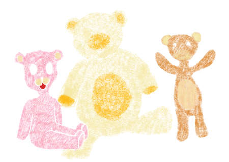 jaunty: Illustration with Taddy Bears, different colors
