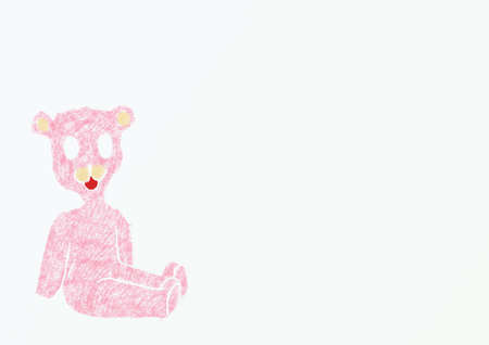 jaunty: Illustration with Taddy Bears, pink toy