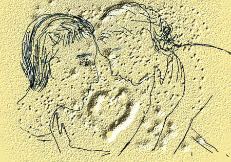 gentleness: Picture with couple, on the wall