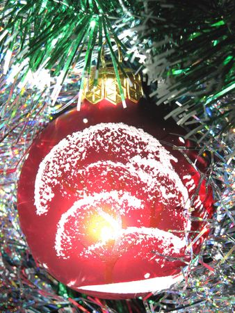 christmastree: christmas-tree decorations                               Stock Photo