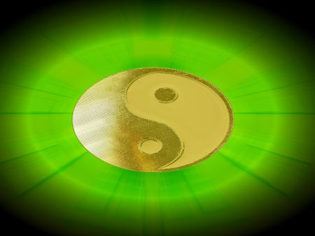 shining yin yang symbol                               photo