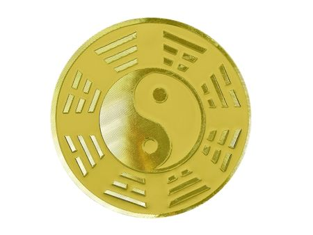 fengshui: golden fengshui bagua                                Stock Photo