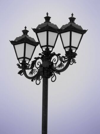 lantern (snowy weather) Stock Photo - 6128298