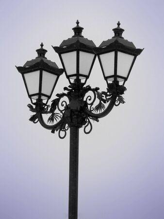edwardian: lantern (snowy weather)                               Stock Photo