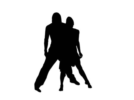 silhouette of dancers                               photo