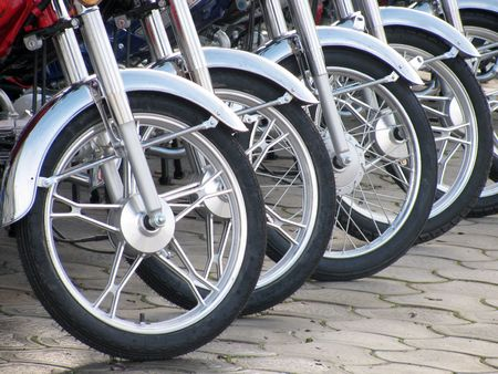 motorcycle wheels                                photo
