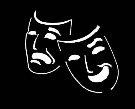 theatre mask: theatre masks