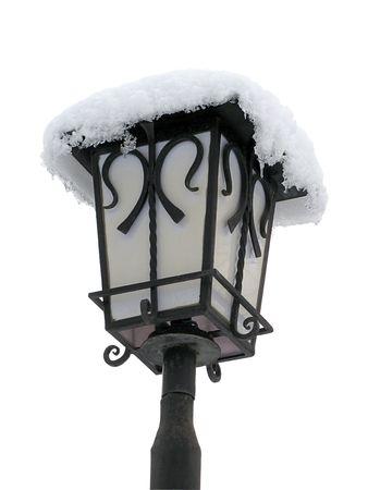 lantern with snow                               Stock Photo - 6382798