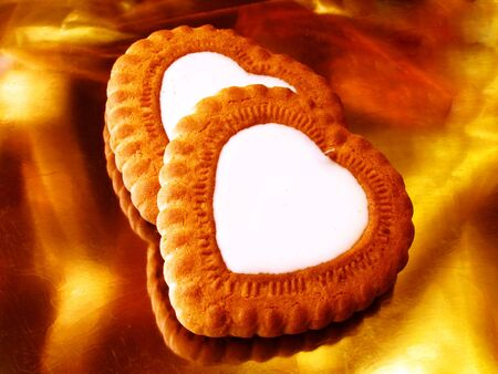 heart-like biscuits                                photo