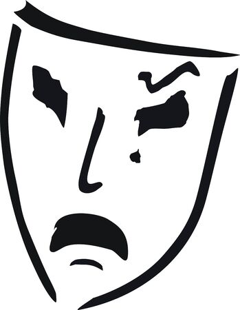 crying theatre mask Vector