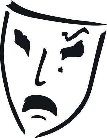 llanto de máscara de teatro