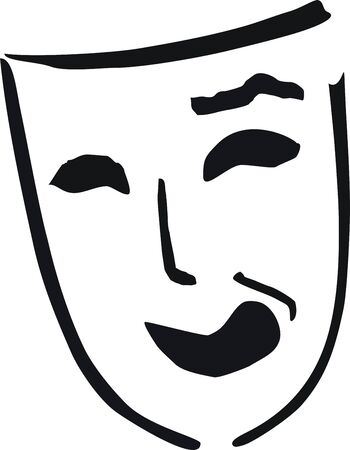 entertainment funny: laughing theatre mask