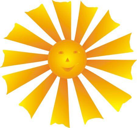 smiling sun Stock Vector - 7823365