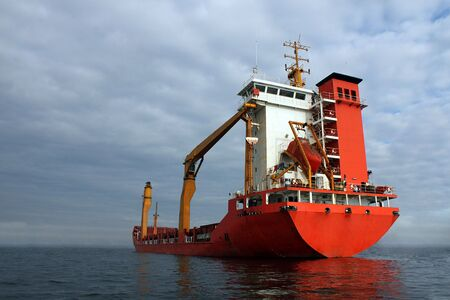 water transportation: grain ship Stock Photo