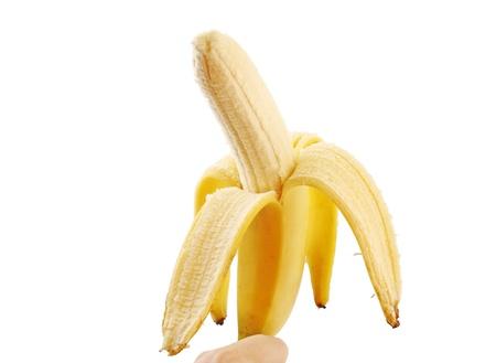 peeled banana: peeled banana Stock Photo