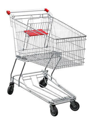 shopping cart isolated: shopping cart                                Stock Photo
