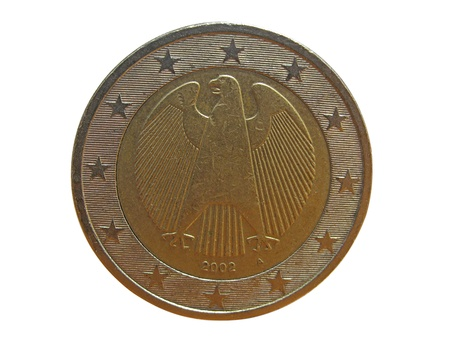 reverse:  reverse side of german one euro coin