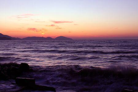 seaside before sunrise photo