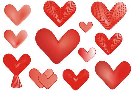 hearts clipart Stock Vector - 8658035