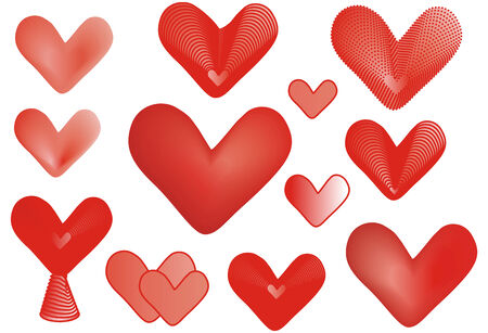hearts clipart Stock Vector - 8658035