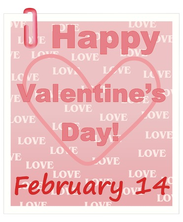 clipart: Happy Valentines Day Vector