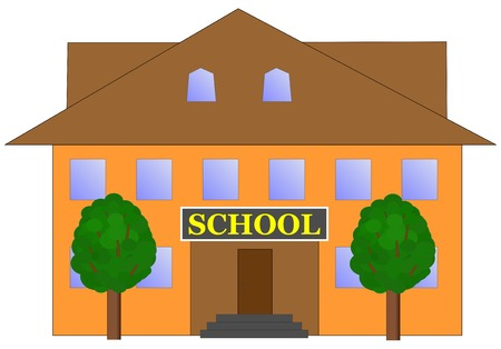 school building: school building vector illustration