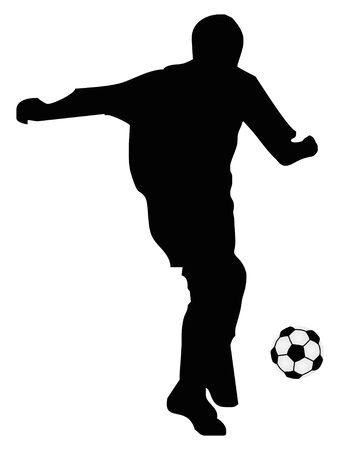 soccer: football player Illustration