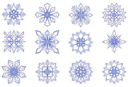 snowflake set: snowflakes vector illustration Illustration