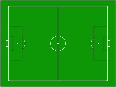 football pitch vector illustration Vector