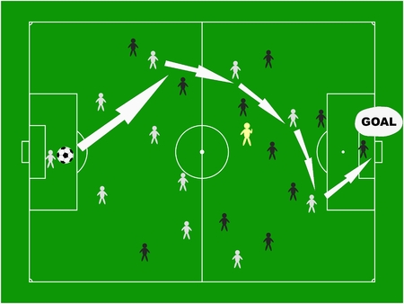 football strategy Vector