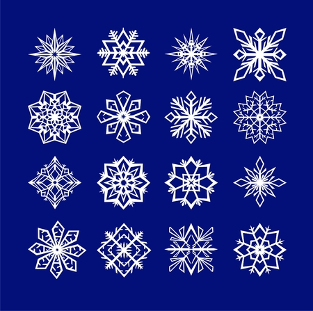 set of snowflakes vector illustration Vector