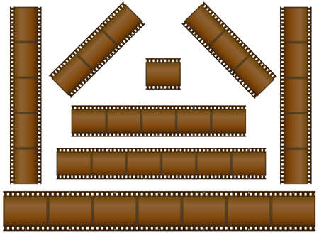 set of filmstrips  photo