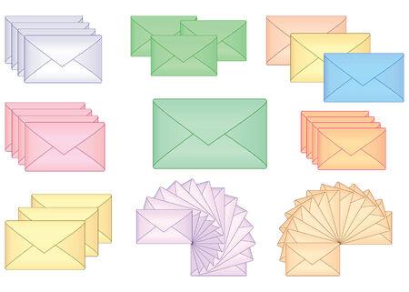 set of envelopes vector illustration  Vector