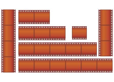filmstrips vector illustration Vector