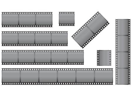 vector illustration clipart: set of filmstrips Vector