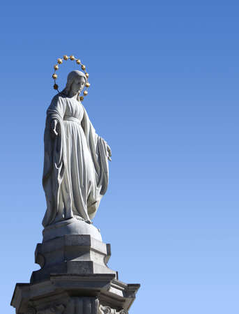 blessed: statue of Blessed Virgin Mary in Lviv
