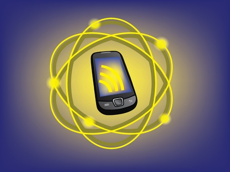 touch sensitive: cell communication vector illustration
