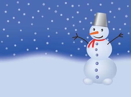 snowman vector illustration Stock Vector - 9404954