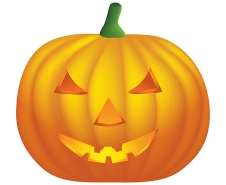 halloween pumpkin isolated on white background  Stock Vector - 9448866